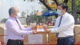 Long An trao tặng vật tư y tế phòng, chống Covid-19 cho nước bạn Campuchia
