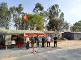 Lãnh đạo huyện Tân Hưng thăm, động viên lực lượng phòng, chống dịch biên giới