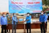 Tỉnh đoàn Long An tặng quà, vật tư y tế cho Liên đoàn Thanh niên 2 tỉnh Svay Rieng và Prey Veng