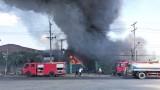 Cần Giuộc: Giữa trưa, cháy lớn tại xưởng mút xốp