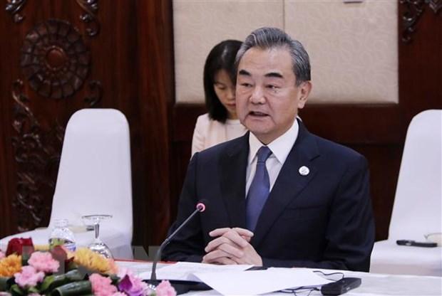 Ngoại trưởng Trung Quốc Vương Nghị. (Ảnh: Phạm Kiên/TTXVN)