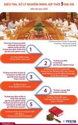 [Infographics] Tập trung điều tra, xử lý nghiêm minh kịp thời 5 đại án