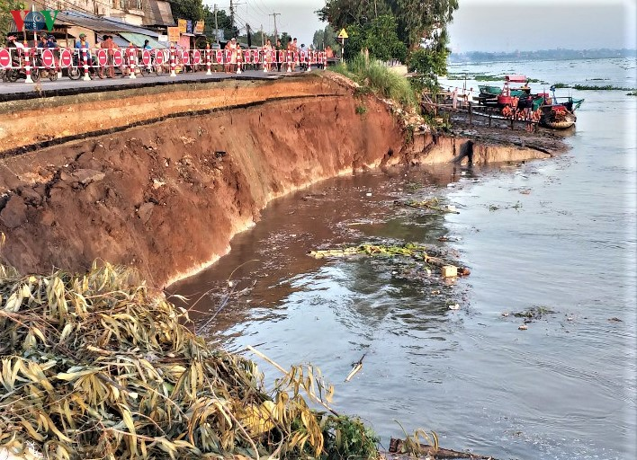 Tỉnh An Giang vừa xảy ra điểm sạt lở nghiêm trọng tại quốc lộ 91(cũ).