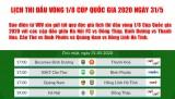 Lịch thi đấu vòng 1/8 Cúp Quốc gia hôm nay (31/5): Không có điều kỳ diệu?