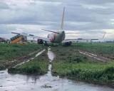 Máy bay Vietjet trượt khỏi đường băng do mưa lớn, hành khách vẫn an toàn