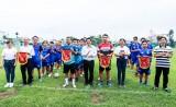 Giao lưu bóng đá chào mừng 95 năm Ngày Báo chí Cách mạng Việt Nam