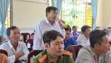 Cử tri Vĩnh Hưng quan tâm về giá lúa, chất lượng vật tư nông nghiệp