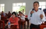 Đại biểu Quốc hội tiếp xúc cử tri huyện Thạnh Hóa