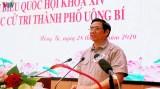 Trưởng Ban Tổ chức Trung ương tiếp xúc cử tri Quảng Ninh