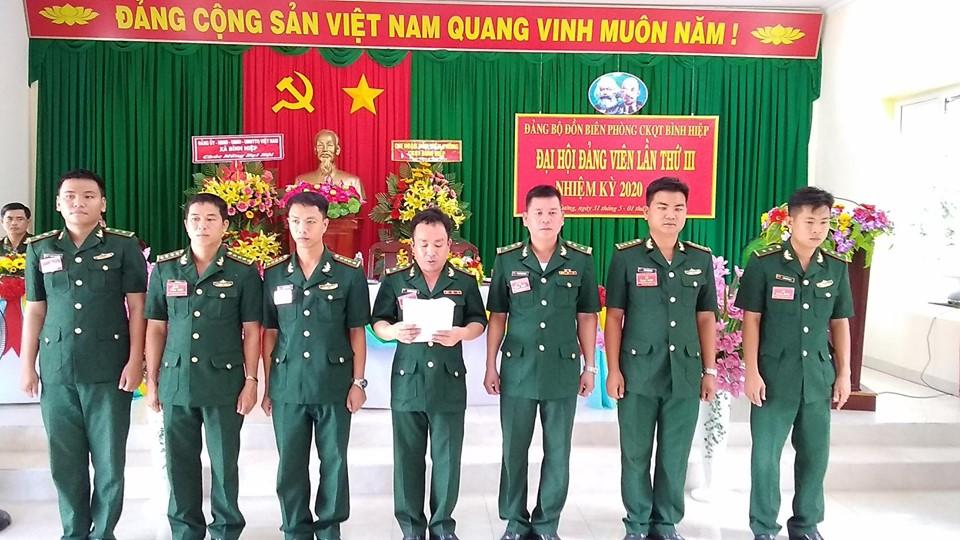 Cấp ủy Đảng bộ Đồn Biên phòng Cửa khẩu Quốc tế Bình Hiệp ra mắt đại hội