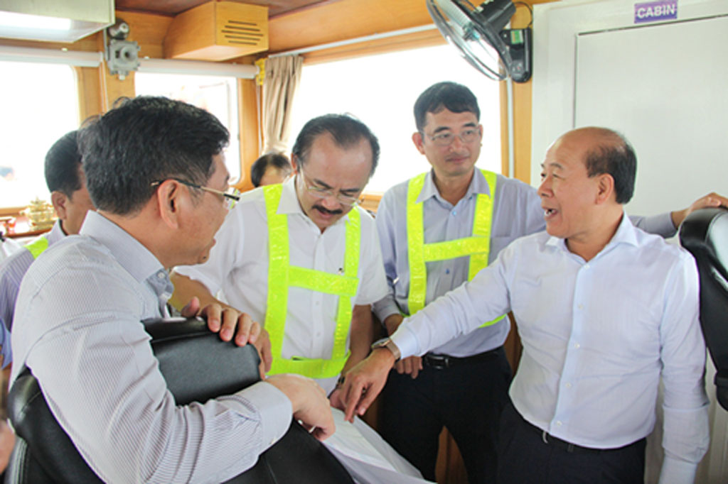The mission acknowledge the professionalism and methodology of Dong Tam Group when they attempt to build Long An International Port (IP)