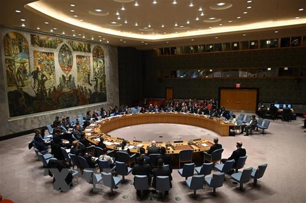 Toàn cảnh một phiên họp của Hội đồng bảo an Liên hợp quốc tại New York, Mỹ. (Nguồn: AFP/TTXVN)