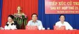 Bí thư Tỉnh ủy – Phạm Văn Rạnh tiếp xúc cử tri huyện Đức Hòa