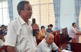 Chủ tịch UBND tỉnh Long An – Trần Văn Cần tiếp xúc cử tri huyện Châu Thành