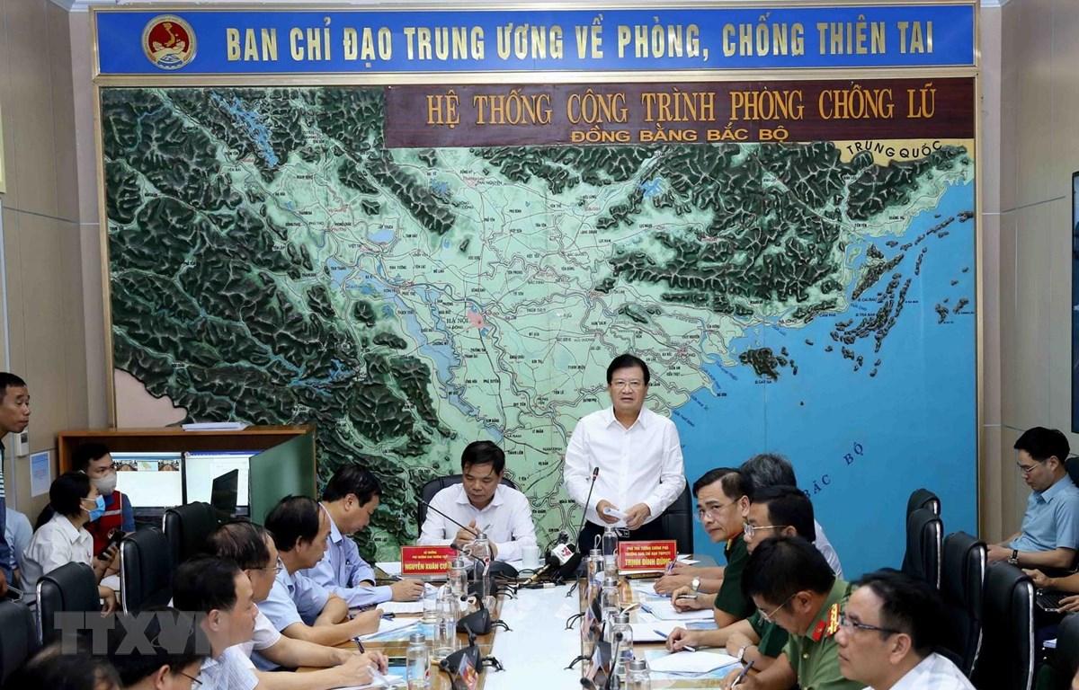 Phó Thủ tướng Chính phủ Trịnh Đình Dũng phát biểu chỉ đạo. (Ảnh: Vũ Sinh/TTXVN)