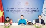 Hội nghị các Chủ tịch Quốc hội: Nỗ lực gấp đôi để chống COVID-19