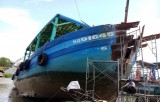 Kiên Giang: Bắt được tàu cá đâm nghiêng trụ điện trên biển