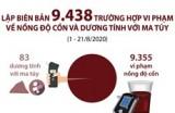 Hơn 9.400 trường hợp vi phạm về nồng độ cồn và dương tính với ma túy