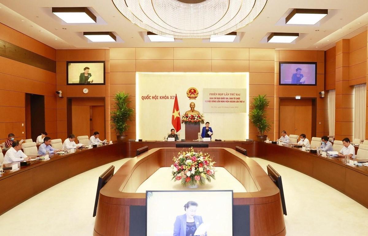 Chủ tịch Quốc hội Nguyễn Thị Kim Ngân chủ trì Phiên họp lần thứ hai Ban Chỉ đạo Quốc gia, Ban Tổ chức AIPA 41. (Ảnh: Trọng Đức/TTXVN)