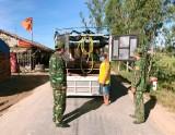 Lính biên phòng nơi tuyến đầu chống dịch