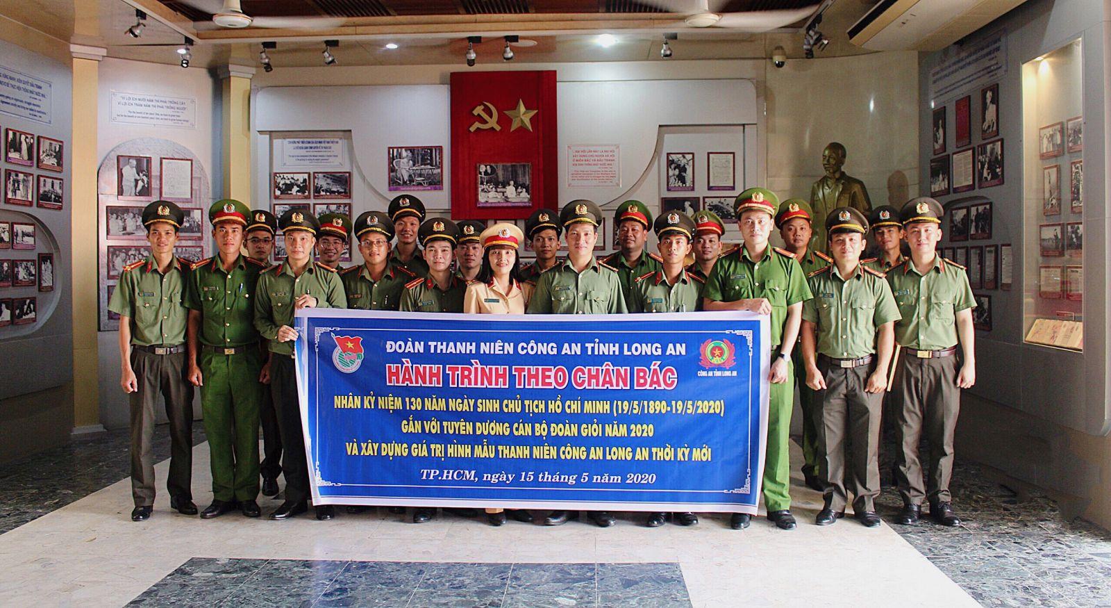 Đoàn Thanh niên Công an tỉnh tổ chức Hành trình theo chân Bác tại Bảo tàng Hồ Chí Minh