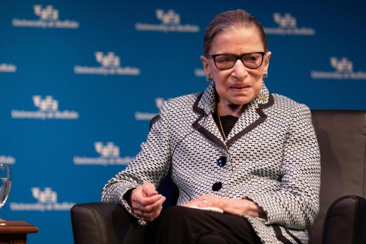 Thẩm phán Tòa án Tối cao Mỹ Ruth Bader Ginsburg. Ảnh Reuters.