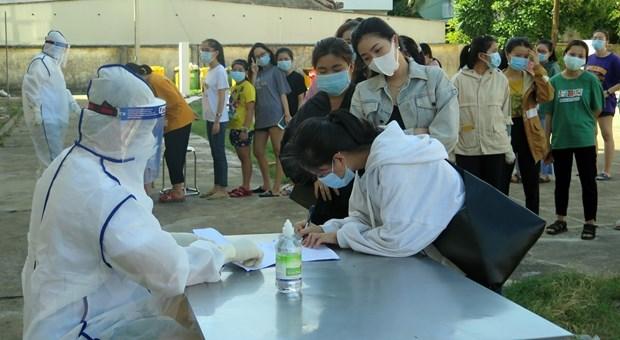 Phú Yên: 119 người trở về từ Đà Nẵng hết thời gian cách ly y tế. (Ảnh: Xuân Triệu/TTXVN)