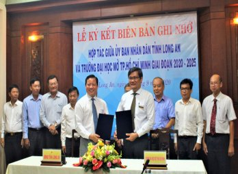 Long An and Ho Chi Minh City Open University cooperate in scientific research and training for period 2020-2025
