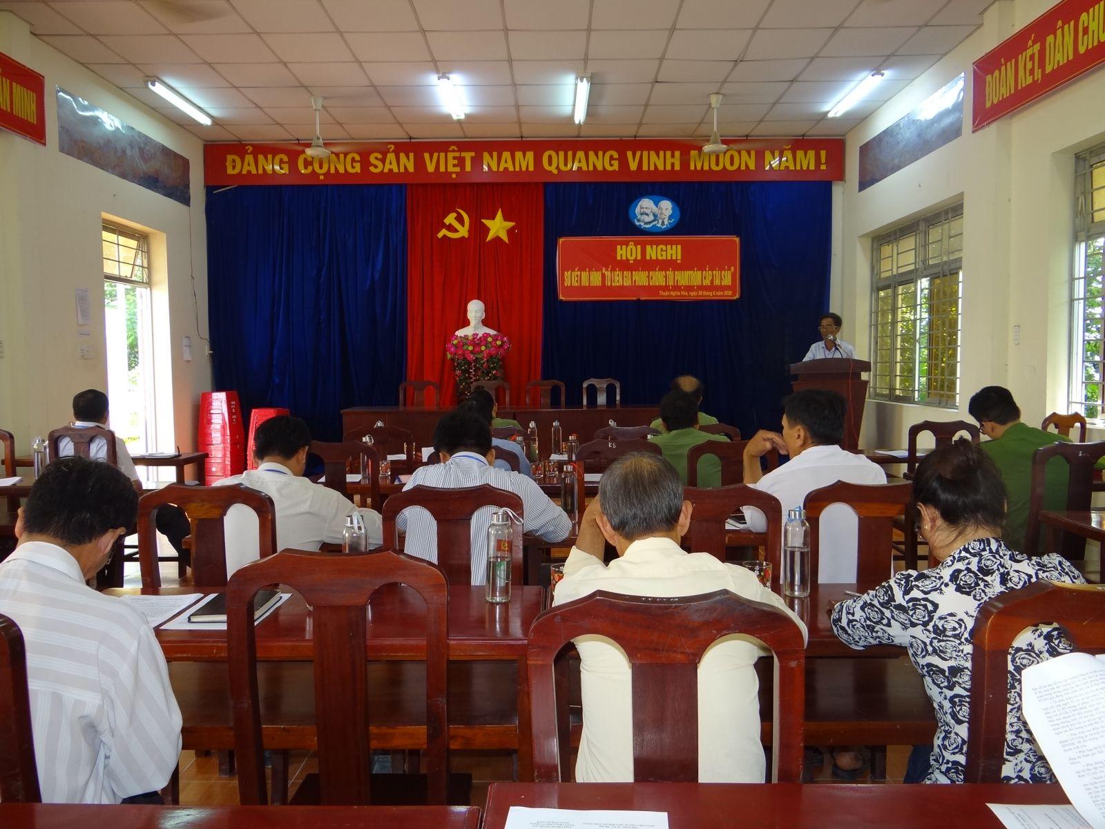 Hội nghị sơ kết mô hình Tổ liên gia phòng, chống tội phạm tại xã Thuận Nghĩa Hòa