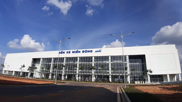 The new Mien Dong Bus Station in HCM City's district 9 will replace the old station in Binh Thanh district. (Photo: VNA)