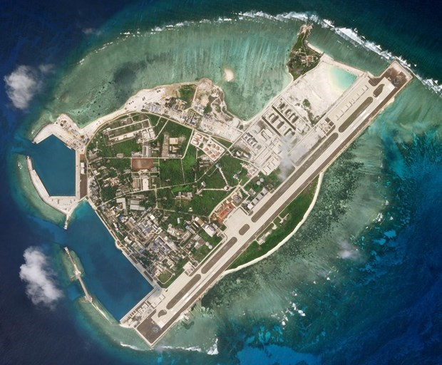 Đảo Phú Lâm thuộc quần đảo Hoàng Sa của Việt Nam bị Trung Quốc dùng vũ lực chiếm đóng và cải tạo bất hợp pháp. (Ảnh: Reuters)