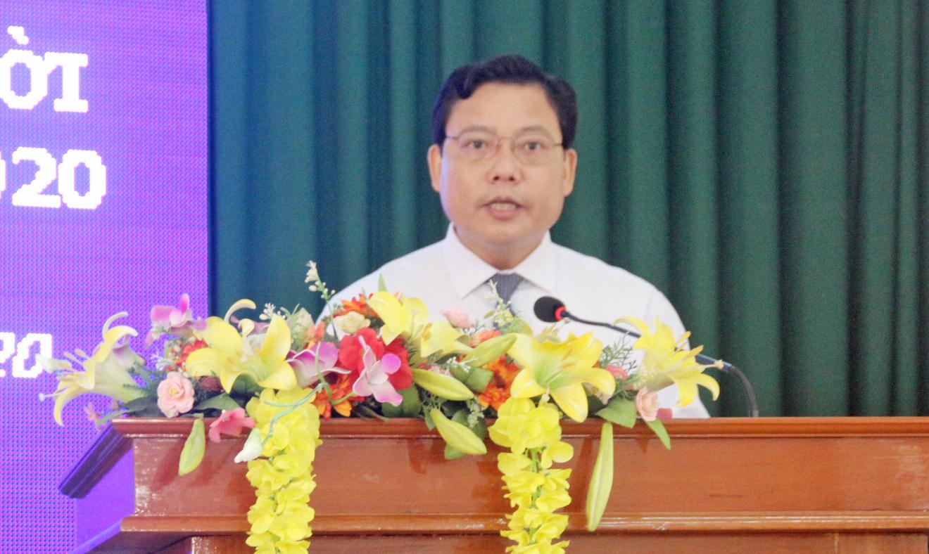 Phó Chủ tịch UBND tỉnh – Phạm Tấn Hòa phát biểu tại buổi lễ
