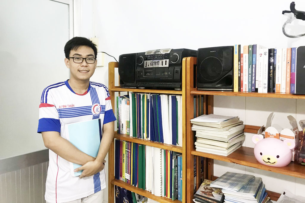 Trần Minh Thuận luôn nỗ lực học tập để trở thành người có ích cho xã hội