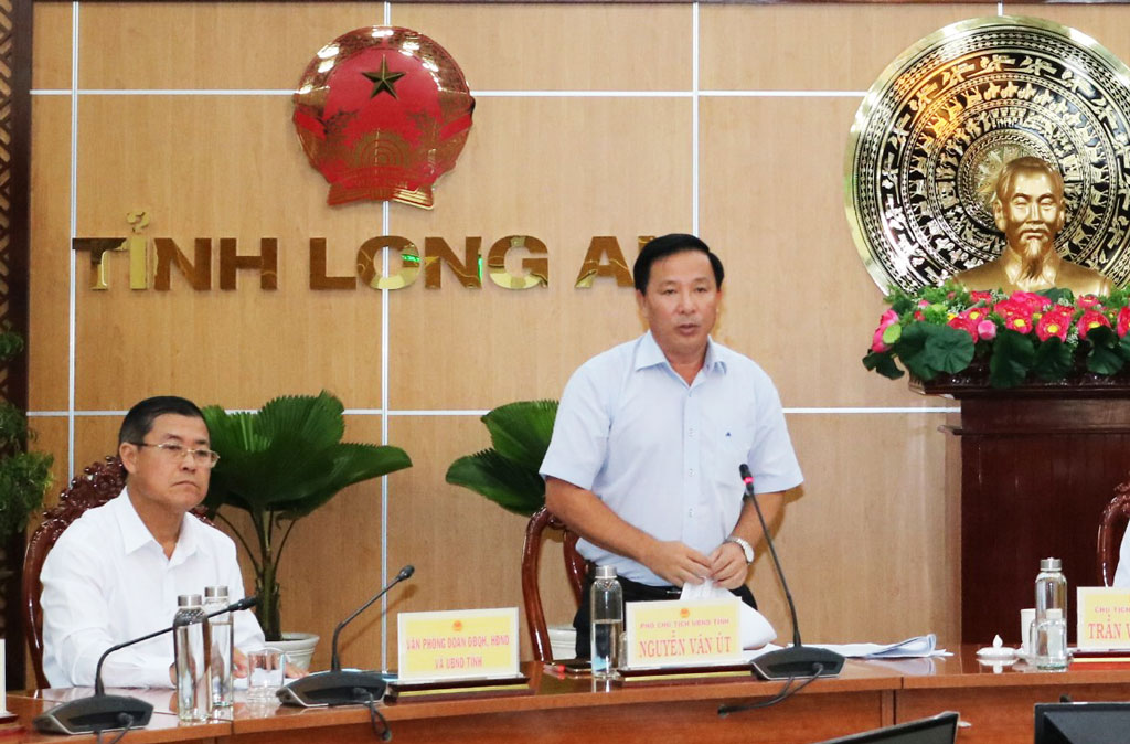 Vice Chairman of the Provincial People's Committee - Nguyen Van Ut proposes to correct outstanding issues and creates open conditions to attract investment