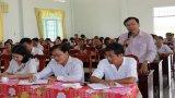 Cử tri huyện Tân Trụ quan tâm công tác phòng, chống tham nhũng, lãng phí