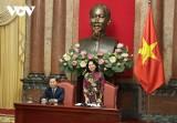 Bà Đặng Thị Ngọc Thịnh gặp mặt đoàn học sinh, sinh viên các cơ sở nghề nghiệp xuất sắc