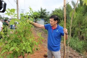 VWS trồng hoa và cây xanh tại xã Đa Phước