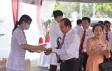 100% đại biểu, khách mời dự Đại hội Đảng bộ tỉnh Long An phải kiểm tra thân nhiệt phòng dịch