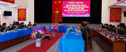 Thượng tướng Trần Đơn làm việc với Bộ Chỉ huy Quân sự tỉnh Long An