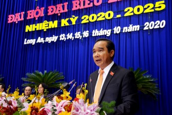 Comrade Nguyen Van Duoc held position as Secretary of Long An Party Committee