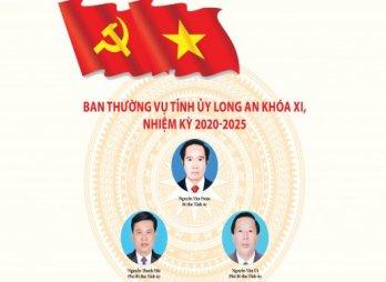 Ban Chấp hành Đảng bộ tỉnh và Ban Thường vụ Tỉnh ủy Long An khóa XI, nhiệm kỳ 2020-2025