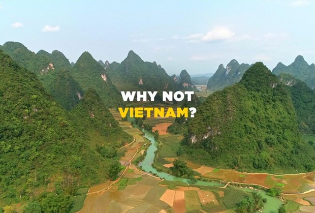 """The 30-second video """"Why not Vietnam"""" introduces the country's stunning views from north to south, describing Vietnam as a safe, new and exciting place to have an adventure. (Photo: tienphong.vn)"""