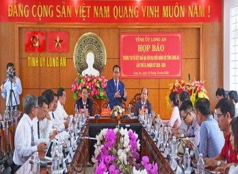 Họp báo thông tin kết quả Đại hội Đảng bộ tỉnh Long An lần thứ XI, nhiệm kỳ 2020-2025