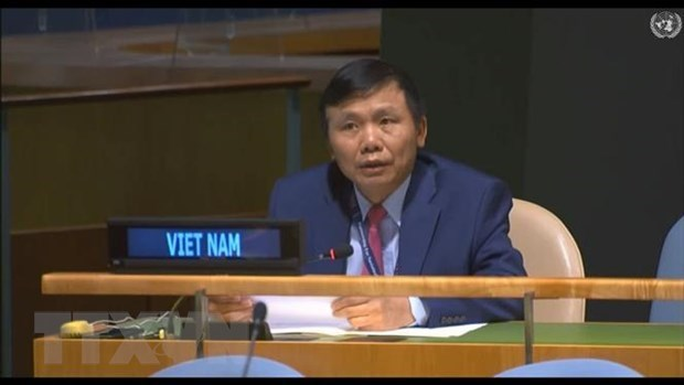 Ambassador Dang Dinh Quy, head of the Vietnamese mission at the UN (Photo: VNA)