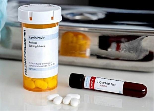 Thuốc điều trị cho bệnh nhân COVID-19 có chứa hoạt chất favipiravir. (Ảnh: ANI/TTXVN)