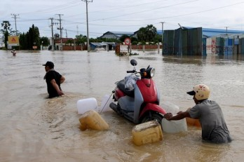 Điện thăm hỏi về mưa lớn và ngập lụt trên diện rộng tại Campuchia