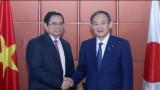 Trưởng ban Tổ chức Trung ương Phạm Minh Chính hội kiến Thủ tướng Nhật Bản
