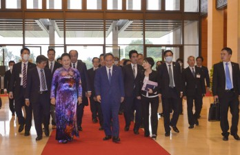 Chủ tịch Quốc hội Nguyễn Thị Kim Ngân hội kiến Thủ tướng Nhật Bản