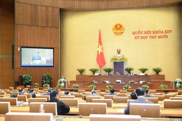 Quốc hội thảo luận trực tuyến về một số nội dung còn ý kiến khác nhau của dự thảo Luật Cư trú (sửa đổi). (Ảnh: quochoi.vn)