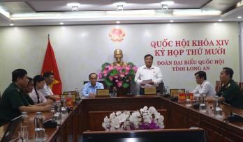 Đại biểu Quốc hội tỉnh Long An góp ý dự thảo Luật Biên phòng Việt Nam